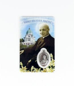 Carte médaille saint frère André (anglais)