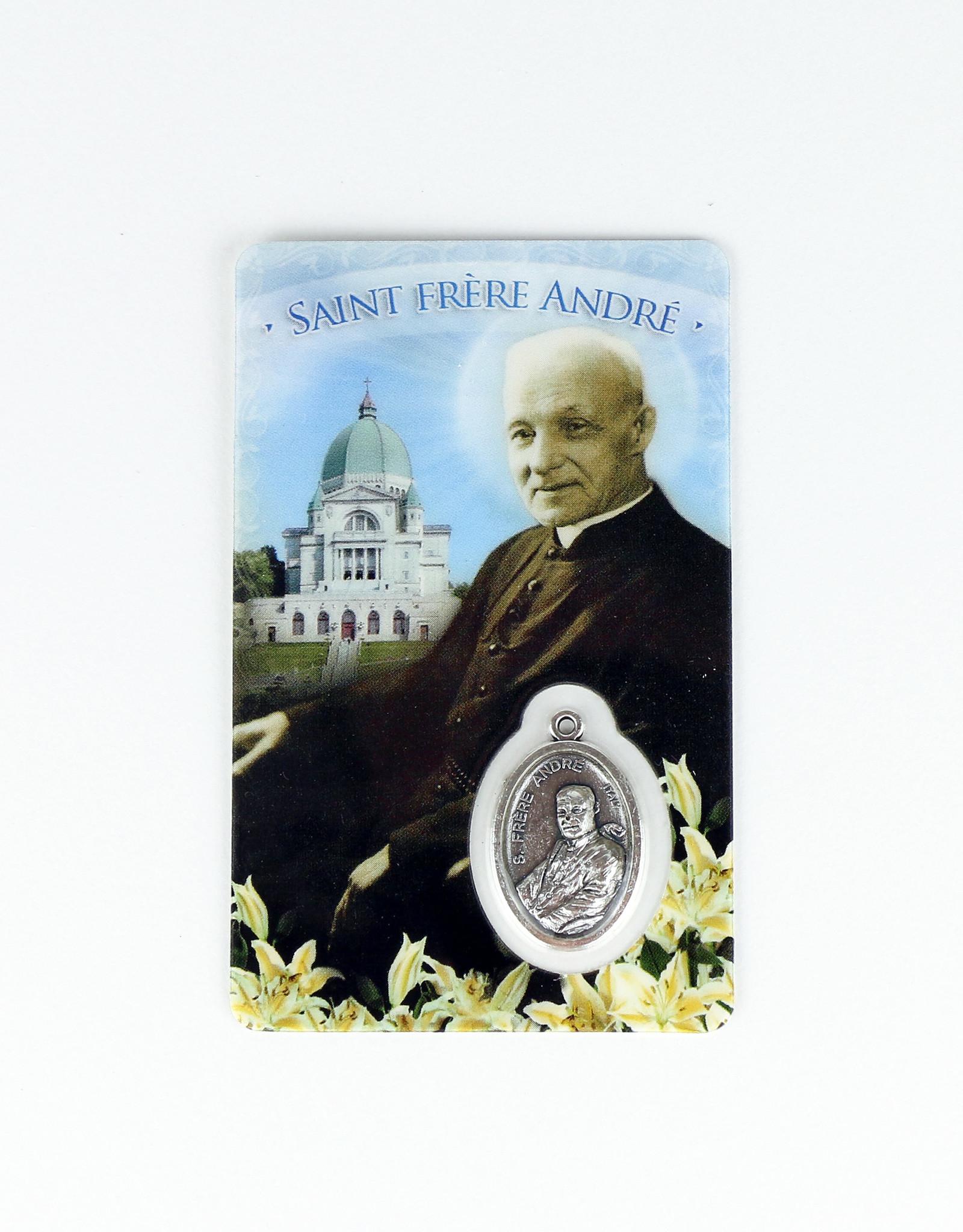 Carte médaille saint frère André