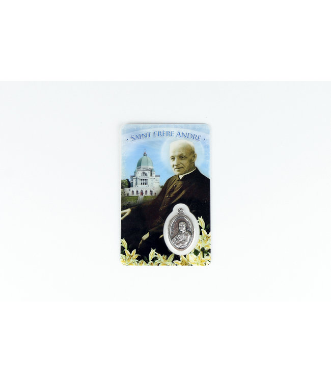 Saint Brother André medal card (french)