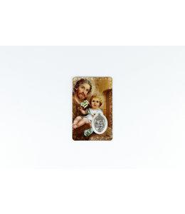 Saint Joseph Medal Card (french)