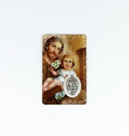 Carte médaille Saint Joseph