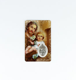 Saint Joseph Medal Card (french)