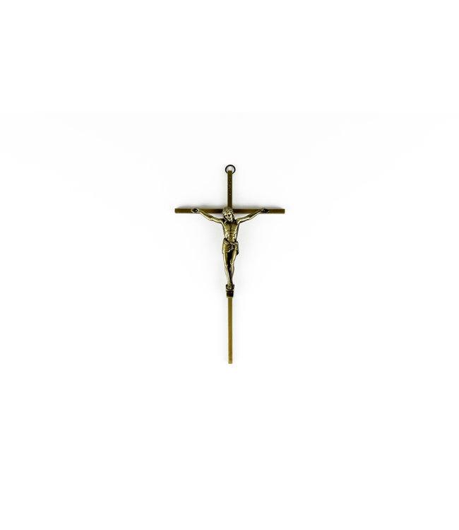 Antique Brass crucifix 8''
