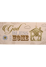 Wooden Plaque ''God bless our home''