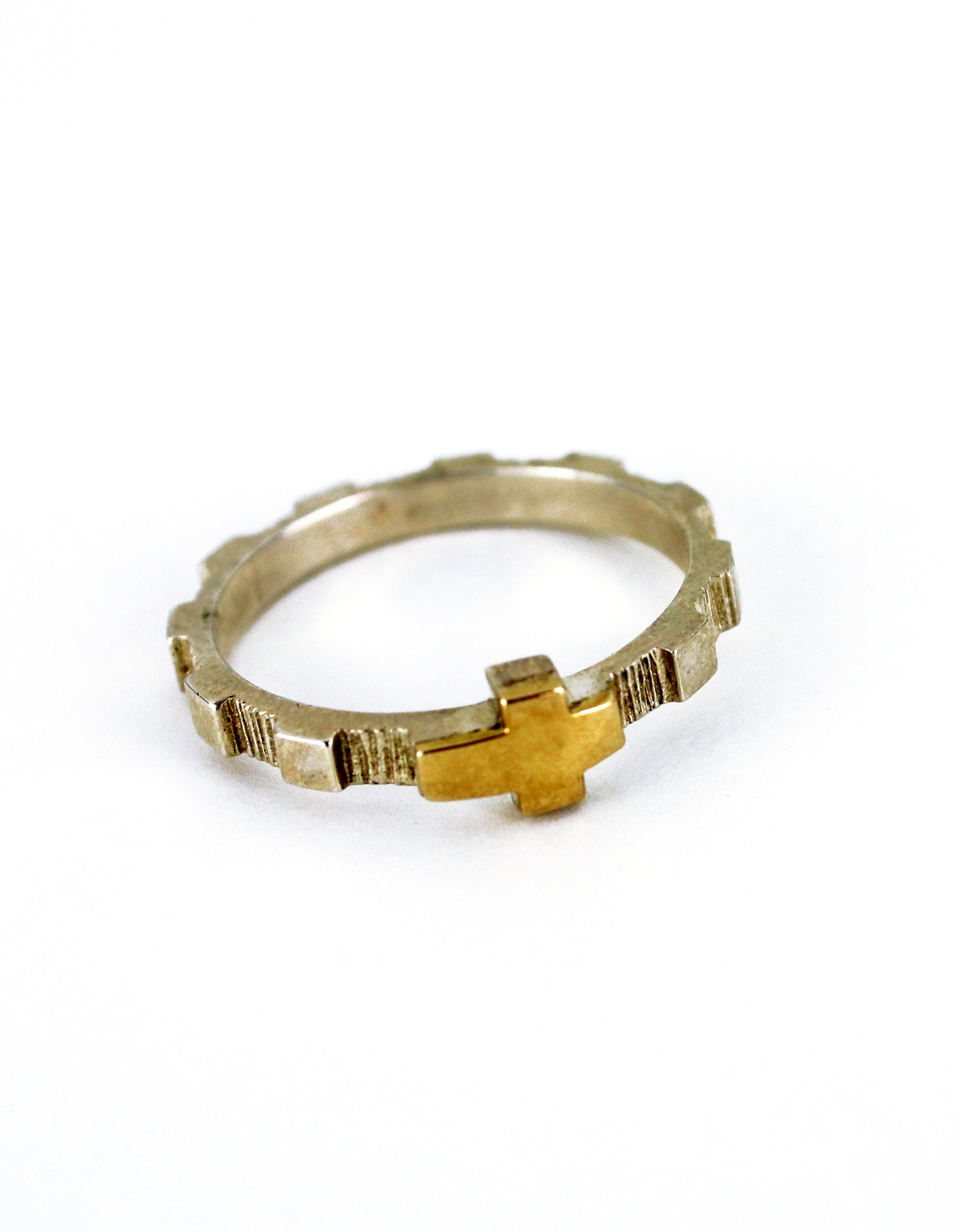 Rosary Ring in Silver and Gold