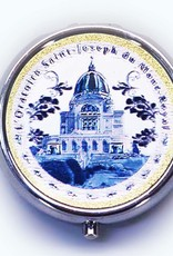 Boîte à pilule argentée Oratoire Saint-Joseph