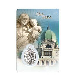 Family medal cards of Saint Joseph (french)