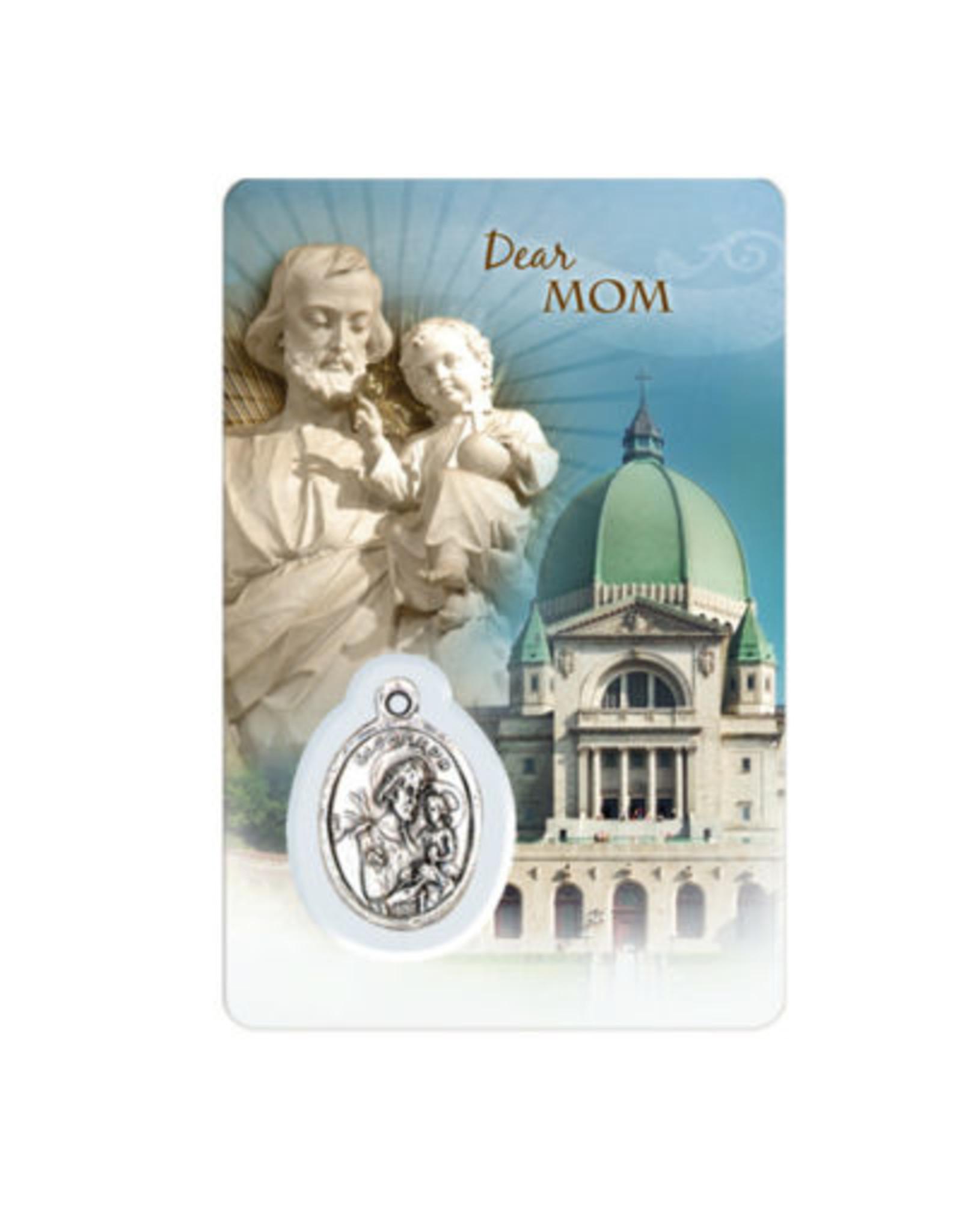 Carte médaille famille Oratoire et Saint Joseph (Anglais)