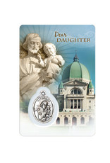 Family medal card of Saint Joseph and the Oratory