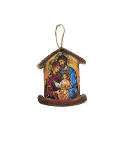 Holy Family icon ornament