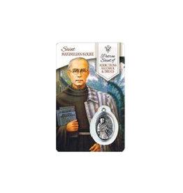 Carte médaille saint Maximilien Kolbe (anglais)