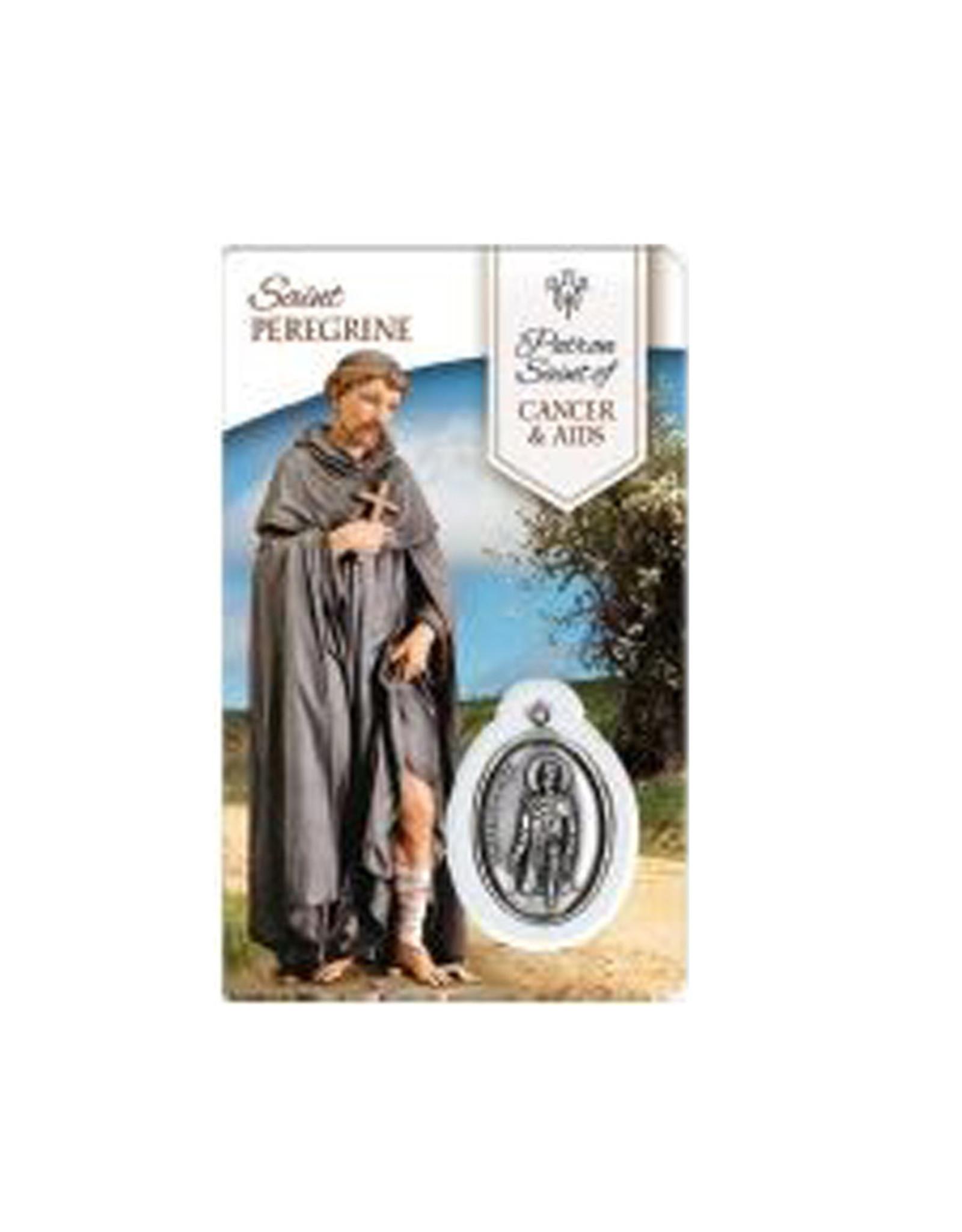 Carte médaille saint Pérégrin (anglais)