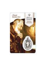 Carte médaille saint Padre Pio (anglais)