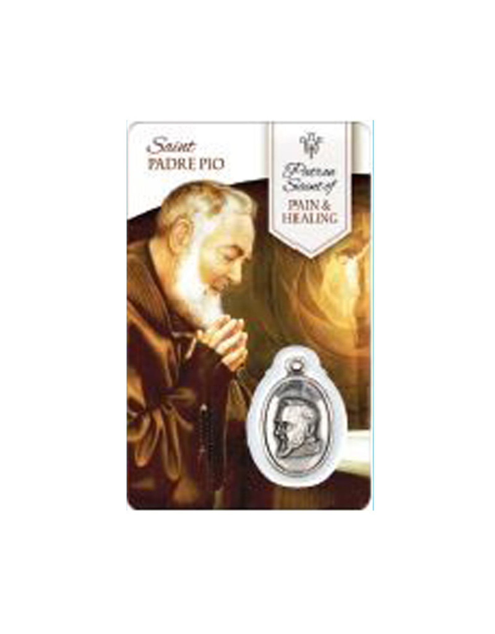 Medal Card of Saint Padre Pio