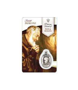 Medal Card of Saint Padre Pio