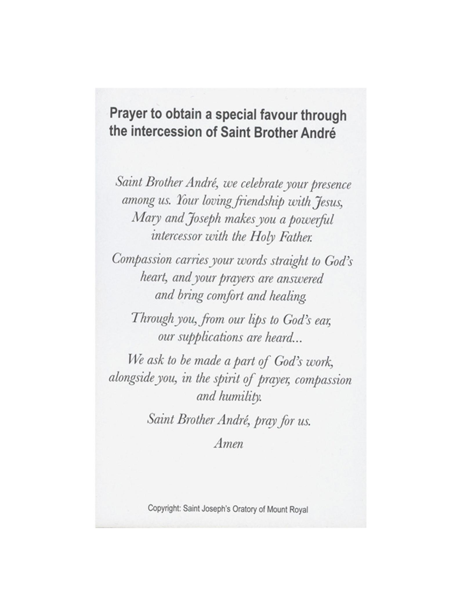 L'Oratoire Saint-Joseph du Mont-Royal Image de saint frère André avec prière (anglais)