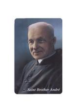 L'Oratoire Saint-Joseph du Mont-Royal Carte plastifiée Saint frère André avec prière (anglais)