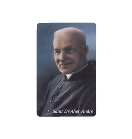 L'Oratoire Saint-Joseph du Mont-Royal Saint Brother André plasticied prayer card