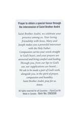 L'Oratoire Saint-Joseph du Mont-Royal Saint Brother André plasticied prayer card (official canonization image)