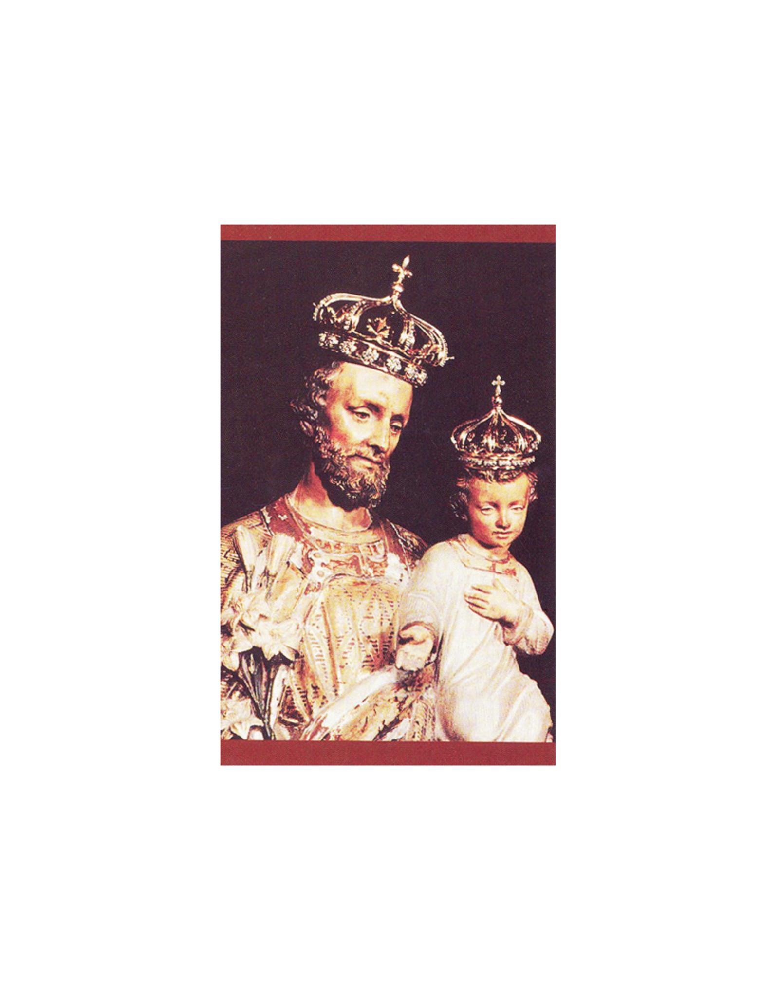 L'Oratoire Saint-Joseph du Mont-Royal Carte prière saint Joseph (anglais)