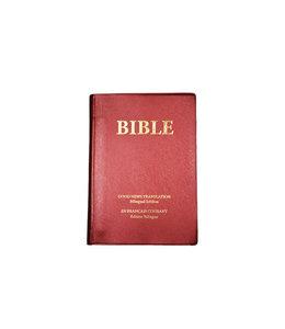 Société Biblique / Bible Society Bible (Français courant) Bilingue :  Rouge