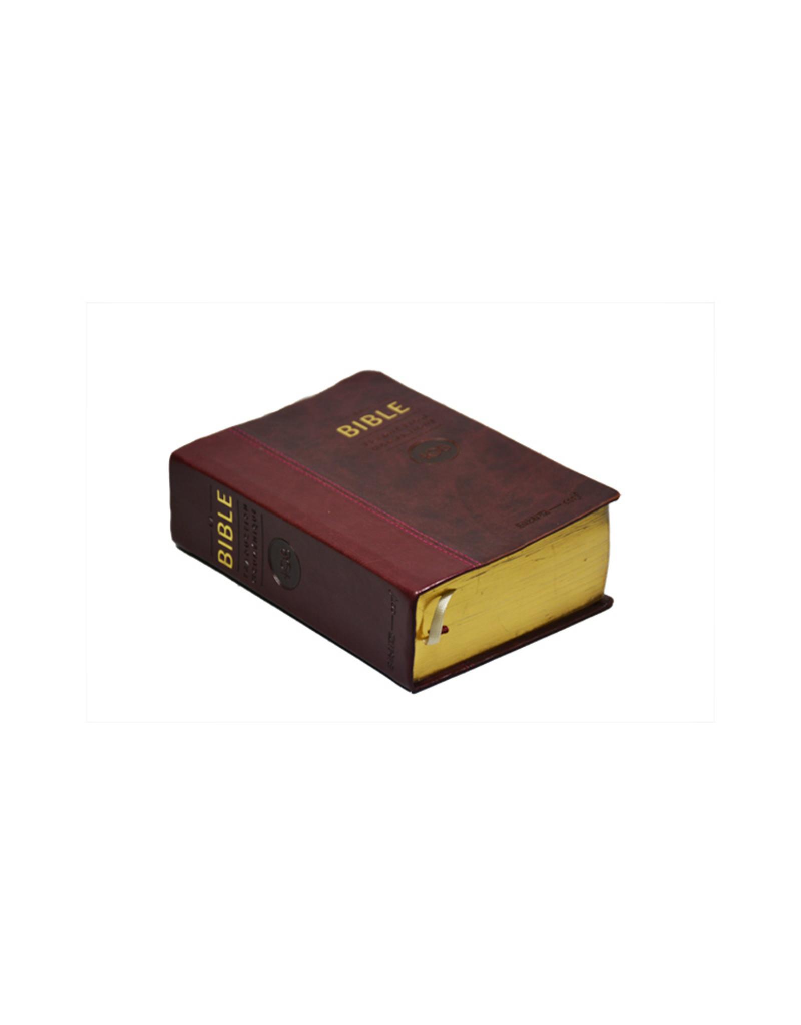 Société Biblique / Bible Society French bible ecumenical translation bible: brown faux leather