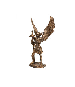 Collection Veronese Statue saint Gabriel résine bronze (11cm)