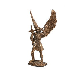 Collection Veronese Statue saint Gabriel résine bronze (11cm)