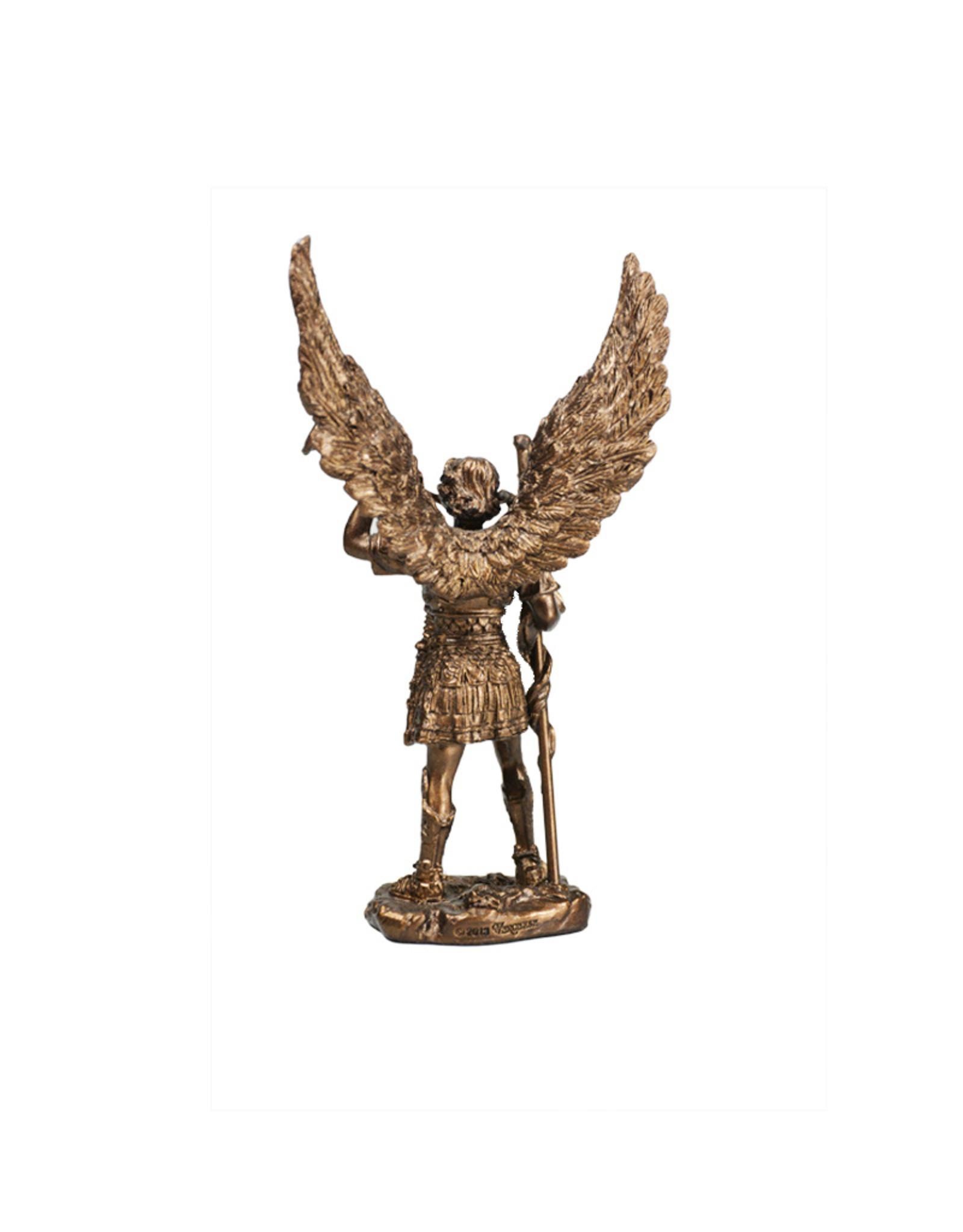 Collection Veronese Statue saint Gabriel résine couleur bronze (11cm)