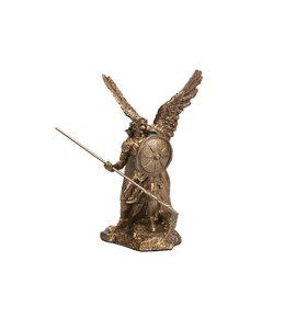 Collection Veronese Statue saint Raphaël résine bronze (10,5cm)