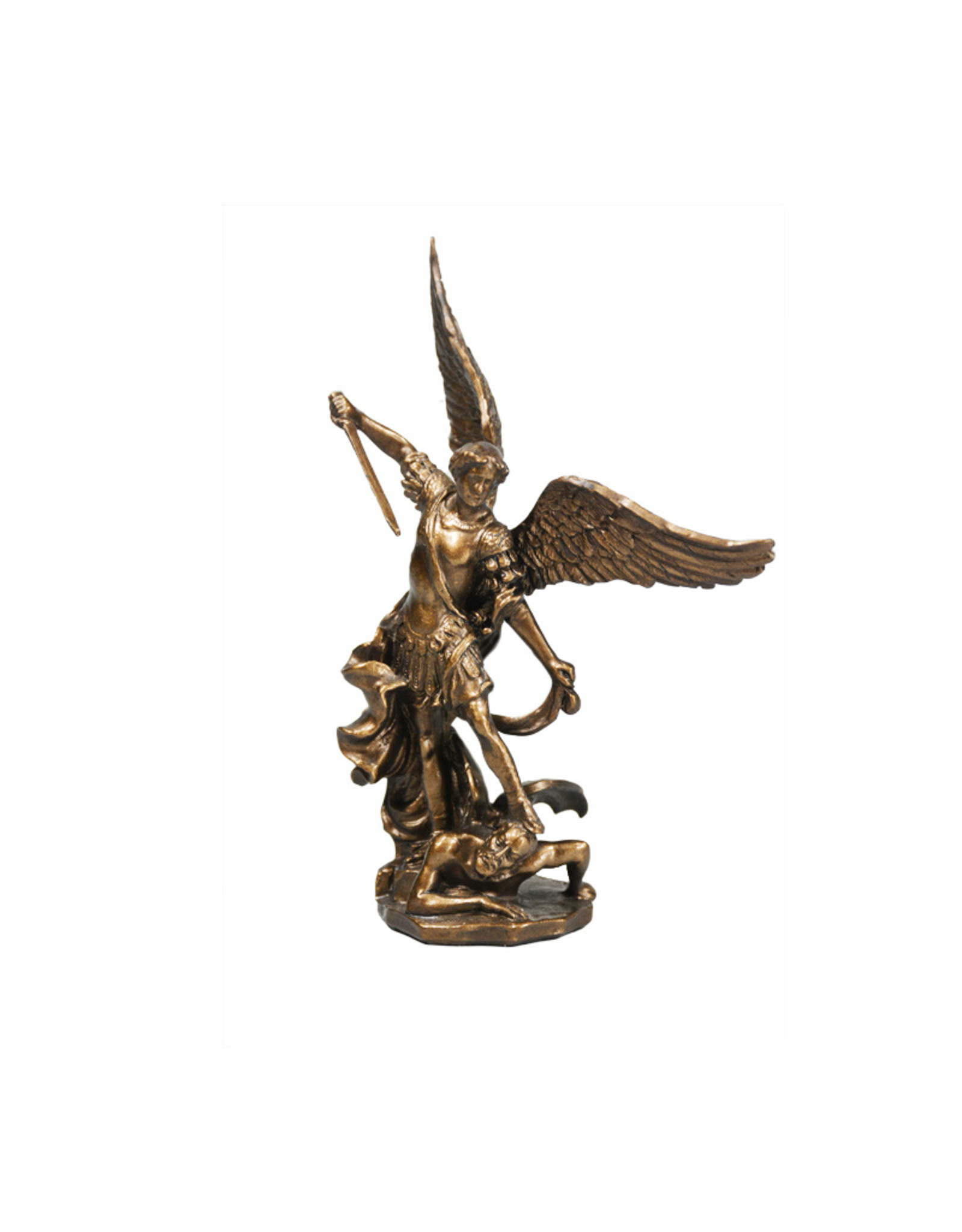 Collection Veronese Statue saint Michel résine bronze (11cm)
