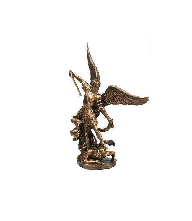 Collection Veronese Statue saint Michel résine bronze (11cm)