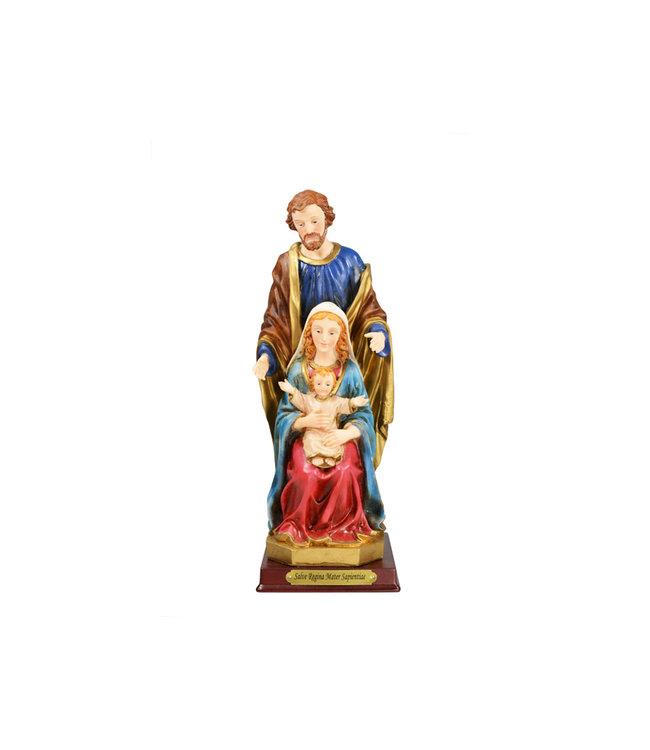 Statue sainte Famille en résine (25cm)