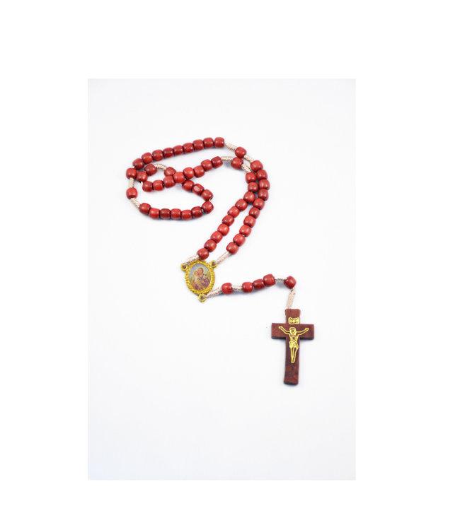 Saint Joseph rosary on rope