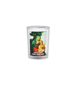 Chandelles Tradition / Tradition Candles Saint Anne votive lamp (french)
