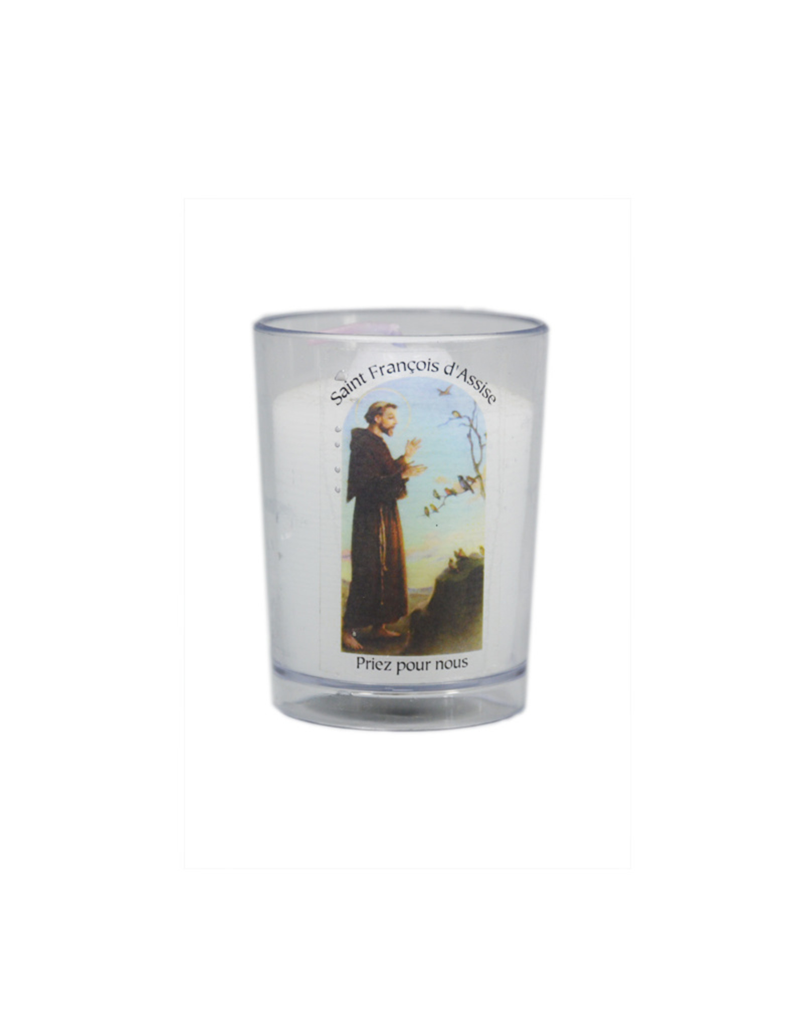 Chandelles Tradition / Tradition Candles Saint Francis of Assisi votive candle (french)