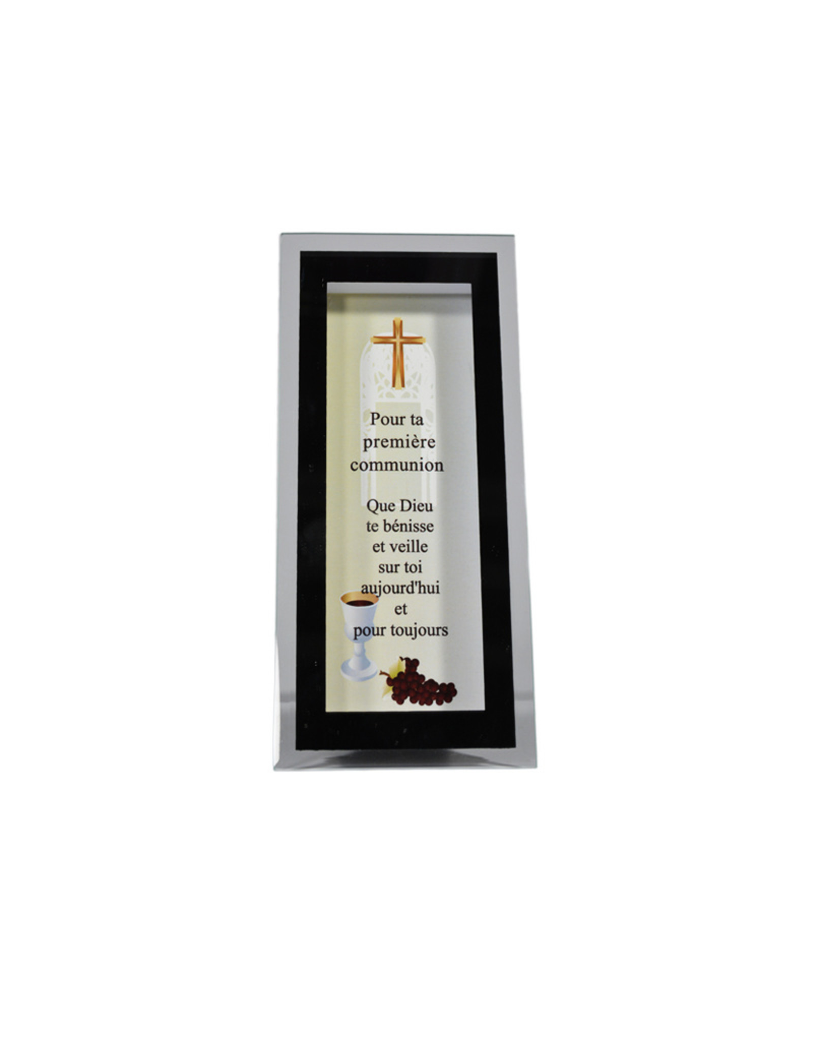 First communion glass and mirror frame (french)