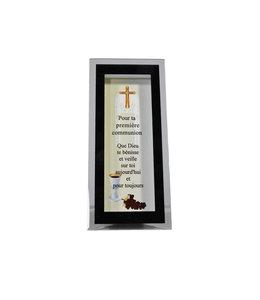 Cadre pour première communion en verre et miroir