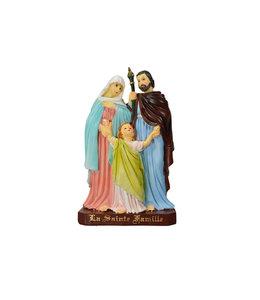Statue sainte Famille résine couleur  (16cm)