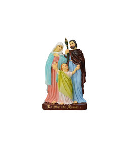 Holy Family color resin statue (16cm)