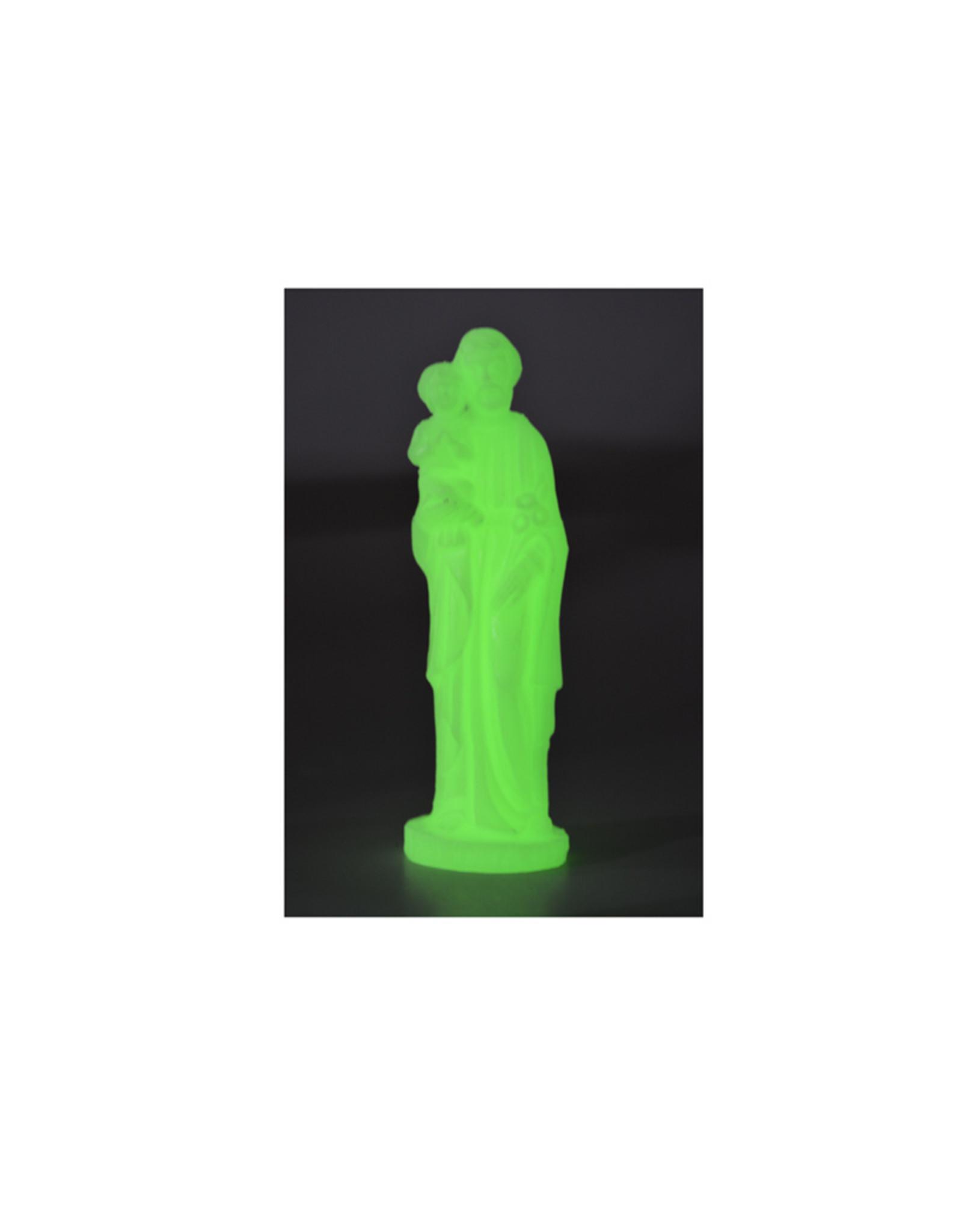 Statue Saint Joseph et l'Enfant,  phosphorescente (15,5cm)