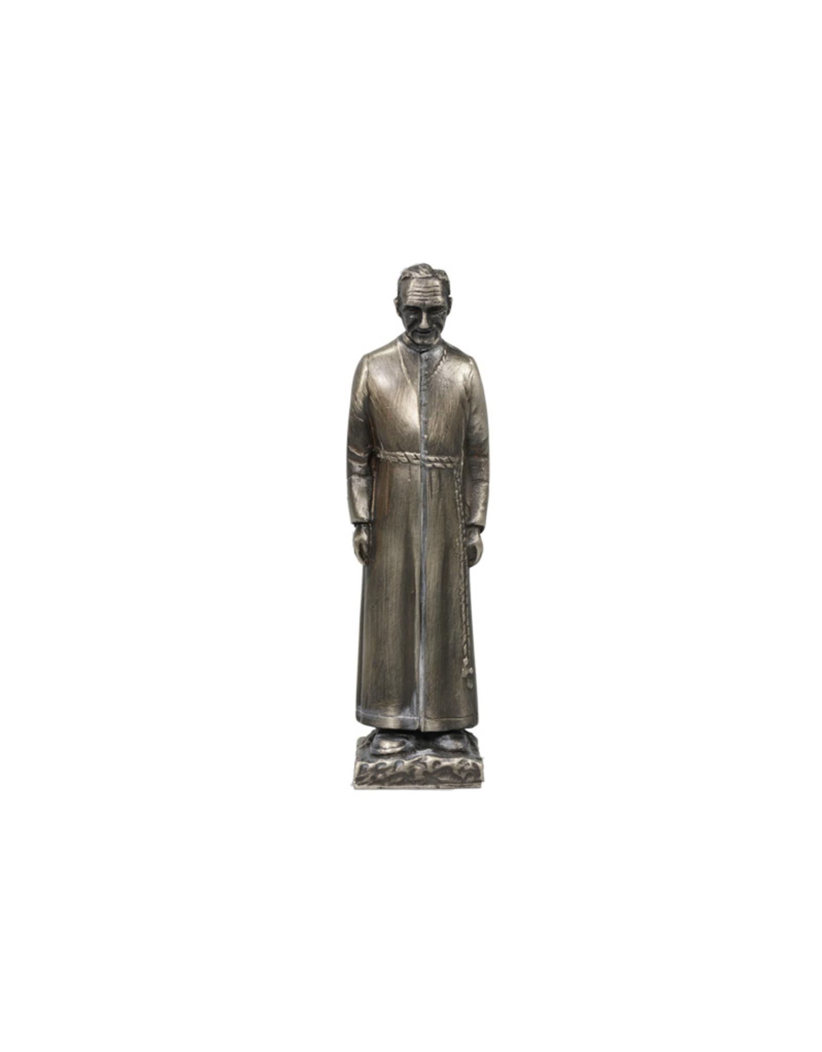 Statue de saint frère André argenté antique (13cm)