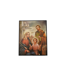 Holy Family icon with golden rays