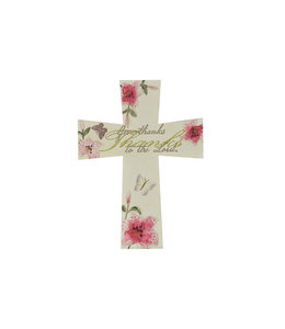 Croix ''Give thanks to the Lord'' (anglais)