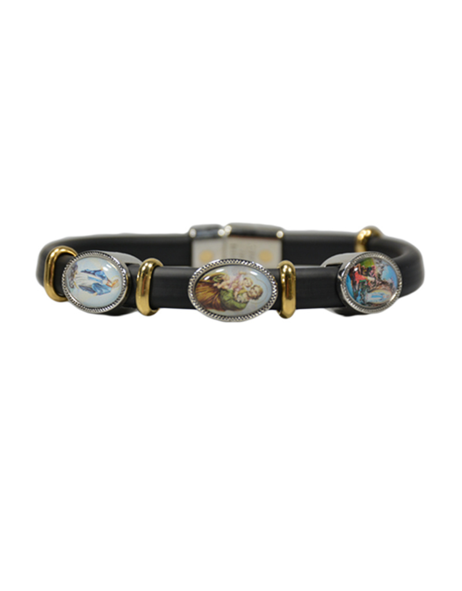 Saint Joseph, Miraculous Virgin Mary and O.L. of Lourdes bracelet