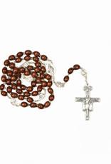 Saint Francis / Saint Claire dark wood rosary
