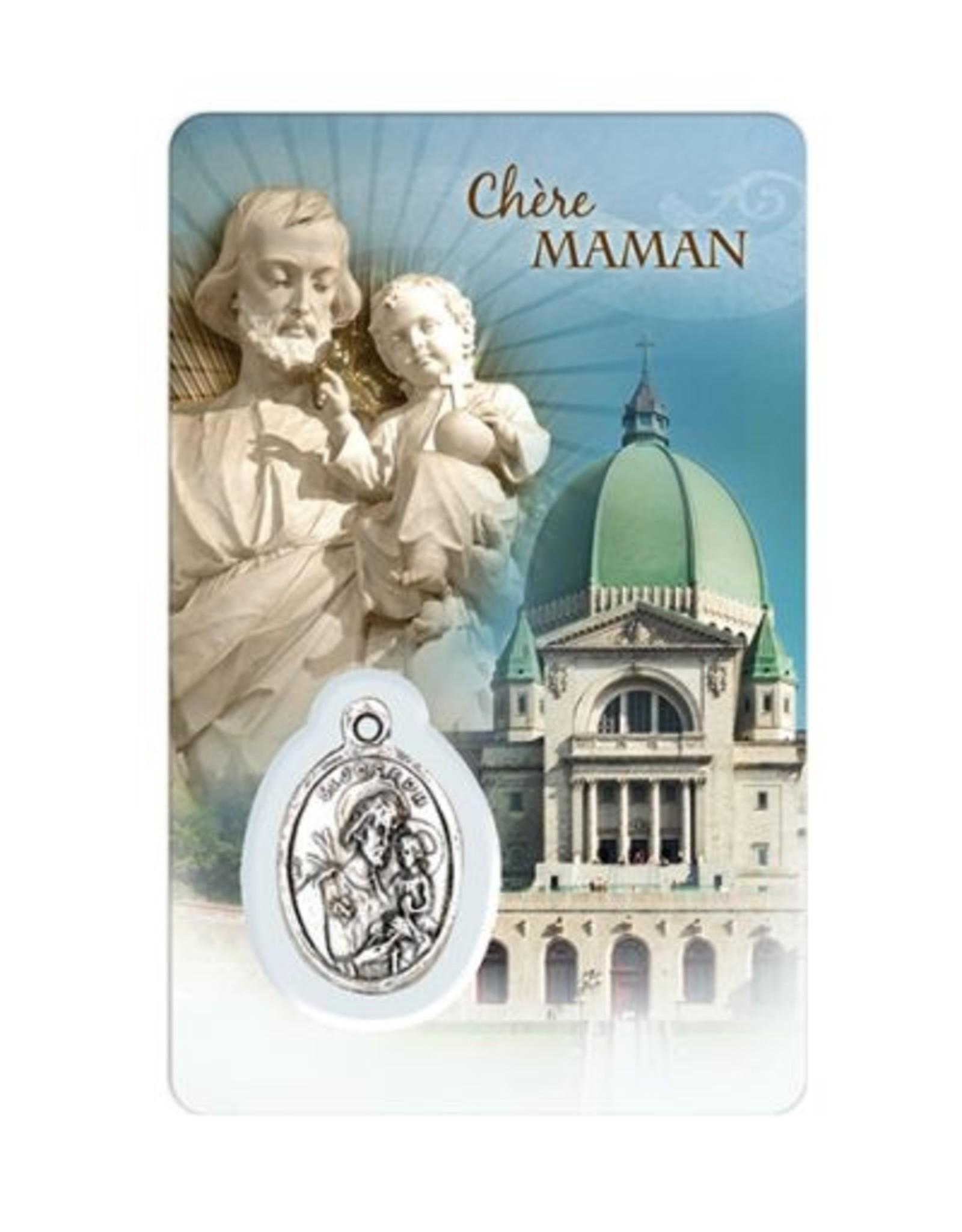 Carte médaille famille Oratoire et Saint Joseph