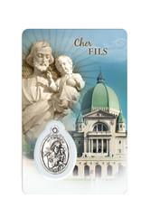 Family medal cards of Saint Joseph (french)