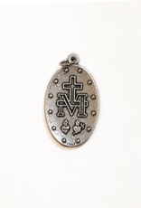 Oval Miraculous Medal with blue enamel
