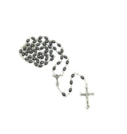 First communion rosary : hematite